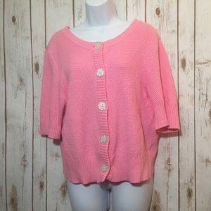 ISSAC MIZRAHI for Target button down pink sweater